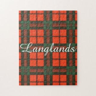 Langlandsの一族の格子縞のスコットランドのキルトのタータンチェック ジグソーパズル