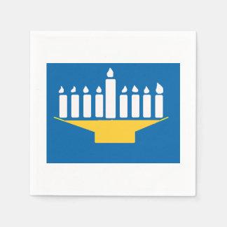 Lanieの(ユダヤ教)メノラーのナプキン スタンダードカクテルナプキン