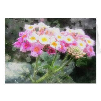 Lantanaによっては2水彩画が開花します カード