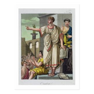 「L'Anticaローマ」からのローマの演説者、1825年(色l ポストカード