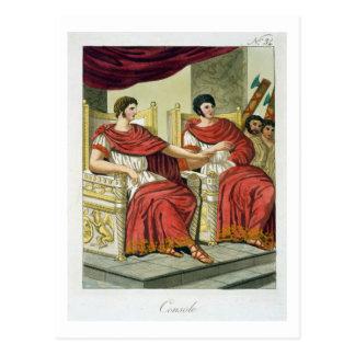 「L'Anticaローマ」からのローマの領事、1825年(色 ポストカード