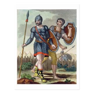 「L'Anticaローマ」からの軍団兵、1825年(色のリチウム ポストカード