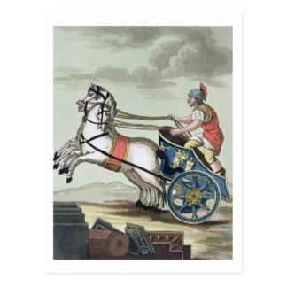「L'Anticaローマ」からのCharioteer、1825年(ついている色 ポストカード