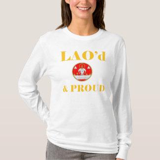LAO'd及び誇りを持ったな女性長袖のフード付 Tシャツ