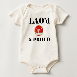 LAO'd及び誇りを持ったな幼児オーガニックなクリーパー ベビーボディスーツ