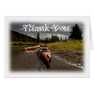Lapieカヤックを漕ぎます; ありがとう カード