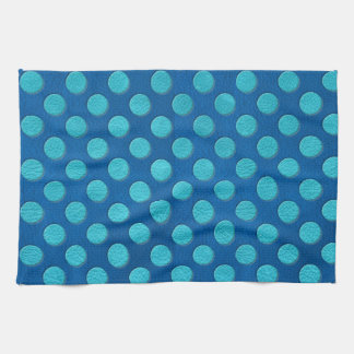 Lapisの青い革質のターコイズの水玉模様 キッチンタオル