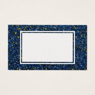 Lapisの青および金ゴールドのグリッターのブランクの名刺 名刺