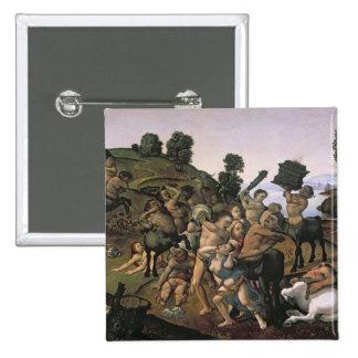 Lapithsとケンタウルス間の戦い 5.1cm 正方形バッジ