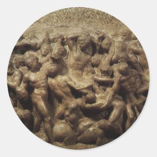 Lapithsの戦いおよびミケランジェロ著ケンタウルス ラウンドシール