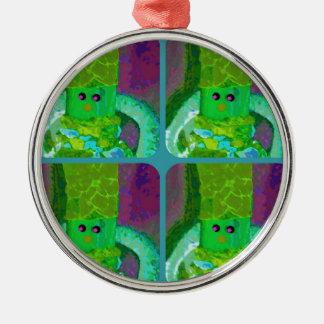 LAPPENPOP - SPINDEROK -縫いぐるみ人形の緑1.png メタルオーナメント
