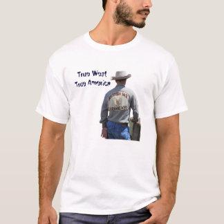LaramieワイオミングのカウボーイのTシャツ Tシャツ
