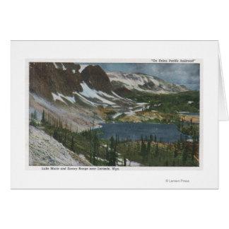 Laramie、WY -湖MarieおよびUnioのSnowyの範囲 カード