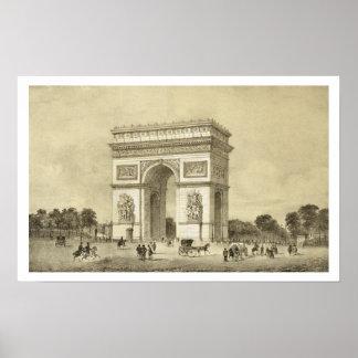 L'Arc de Triomphe、Auguste Bryが刻むパリ ポスター
