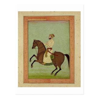 、Largからのc.1790馬上のMughalの貴族、 ポストカード