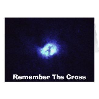 large_webは、十字を覚えています グリーティングカード