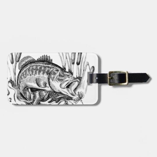 Largemouth bass ラゲッジタグ
