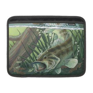 Largemouth Bass Fishing MacBook スリーブ