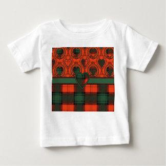 Larnackの一族の格子縞のスコットランドのキルトのタータンチェック ベビーTシャツ