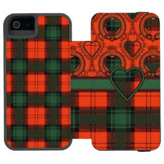 Larnackの一族の格子縞のスコットランドのキルトのタータンチェック iPhone SE/5/5sウォレットケース