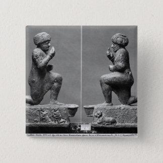 Larsaからの崇拝者、別名王 5.1cm 正方形バッジ