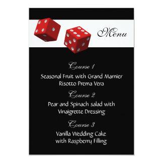 Las|ベガス|結婚|メニュー|カード 12.7 X 17.8 インビテーションカード