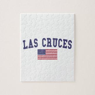 Las Cruces米国の旗 ジグソーパズル