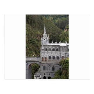 Las Lajasの聖域のバシリカ会堂教会コロンビア ポストカード