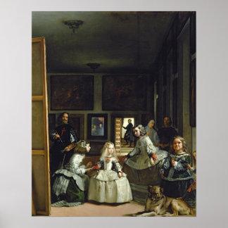 Las Meninasかフィリップの家族IV、c.1656 ポスター