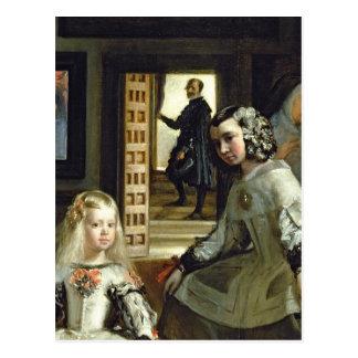 Las Meninasかフィリップの家族IV、c.1656 2 ポストカード