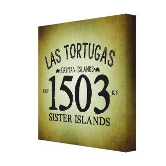 Las Tortugas米国東部標準時刻。 素朴な1503年 キャンバスプリント
