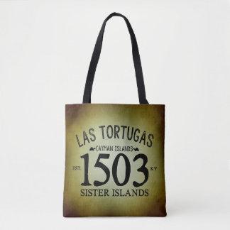Las Tortugas米国東部標準時刻。 素朴な1503年 トートバッグ