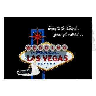 Las Vegaで結婚することを行くチャペルに行きます カード