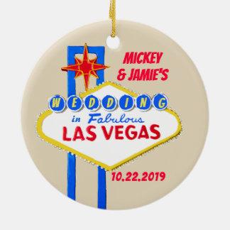 Las Vegas Personalized Save the Date セラミックオーナメント