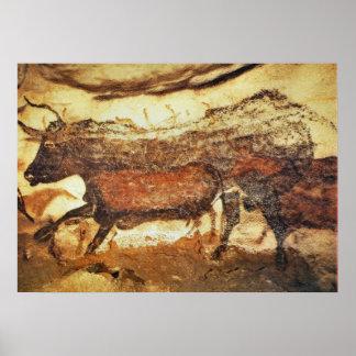 Lascauxの有史以前の洞窟壁画 ポスター