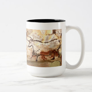 Lascauxの洞窟壁画: 雄牛 ツートーンマグカップ