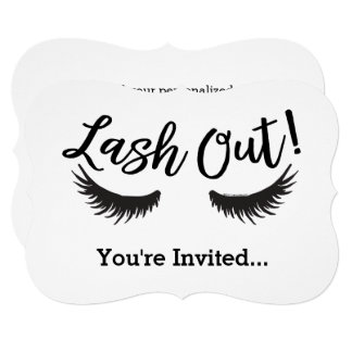 Lash Out Eyelashes Lash Salon Makeup Artist カード