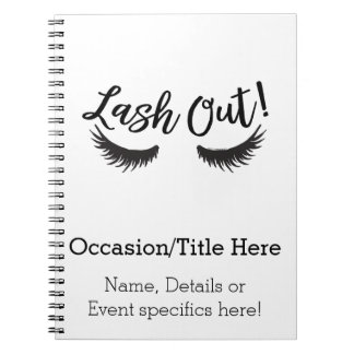 Lash Out Eyelashes Lash Salon Makeup Artist ノートブック