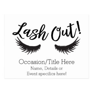 Lash Out Eyelashes Lash Salon Makeup Artist ポストカード