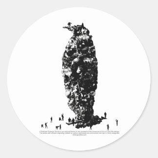 Last penguin_tsz02 ラウンドシール