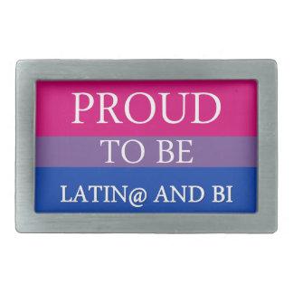 Latin@およびBiがあること誇りを持った 長方形ベルトバックル