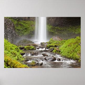 Latourellの滝、コロンビア川の峡谷、オレゴン、 ポスター