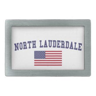 Lauderdale北の米国の旗 長方形ベルトバックル