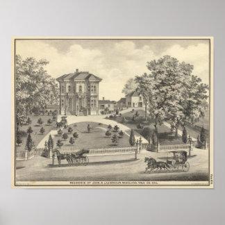 Laugenourの住宅、森林 ポスター