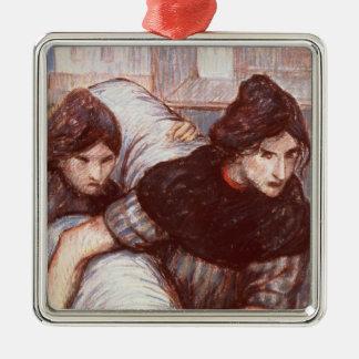 Laundresses 1898年(キャンバスでパステル調) メタルオーナメント
