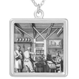 Laurens Janszoon Kosterの製本所 シルバープレートネックレス