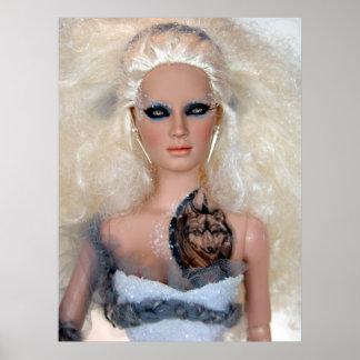 Laurieリーの芸術によるArcticaの人形ポスター ポスター