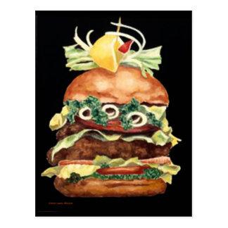 Laurie Mitchell著ハンバーガーの静物画 ポストカード
