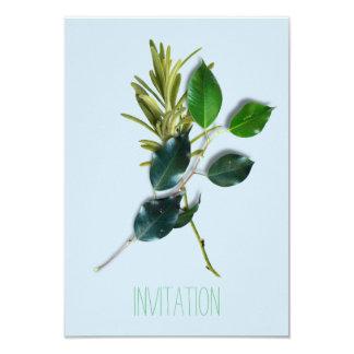 Lauroのスパイスのイタリアンなシェフの夕食の青緑のオーガニック カード