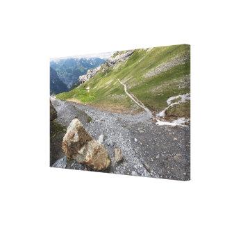 Lauterbrunnenの谷、スイス連邦共和国-キャンバスプリント キャンバスプリント